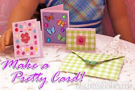 How To Make A Card Envelope - doll craft make a pretty card and envelope americangirlfan
