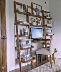 Shelf Ladder Woodworking Plans by Best 25 Ladder Desk Ideas On Pinterest Ladder Shelves Desk