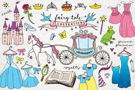 fairy tale book report template fairy tale princess clipart illustrations creative market