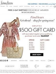 sale my gift card neiman hours earn up to a 500 gift card milled