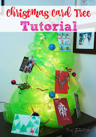 make a diy christmas card tree the tiptoe fairy