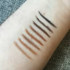 nice pencils review colourpop brow pencils and brow colours