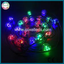 dc12v dream color christmas string lights dmx 3d led pixel ball
