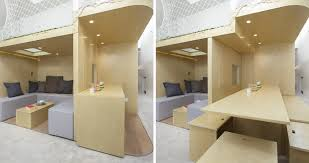 Tiny Home Dining Table This Tiny Home In China Has Moving Walls To Make Room For Six