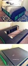 Bed Platform With Storage Bedding Appealing Queen Bookcase Bed With 12 Underbed Drawers By