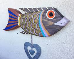fish wall etsy