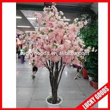 light pink silk artificial indoor cherry blossom tree for wedding