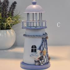 4 differents style retro small model lighthouse ornaments home and