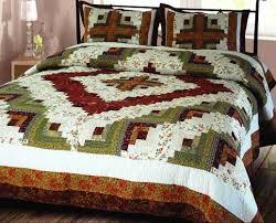 Bedding Ensembles Buy Log Cabin Quilt King Handmade Bedding Ensembles At