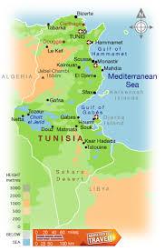 tunisia physical map map of tunisia israa mi raj net