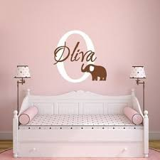 Monogram Wall Decals For Nursery Shop Boy Elephant Nursery On Wanelo