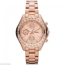 bracelet watches fossil images Fossil watch women 39 s chronograph dylan rose gold tone stainless jpg