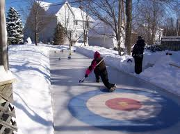 Ice Rink In Backyard Homemade Outdoor Curling Rink I Would Be All About Having