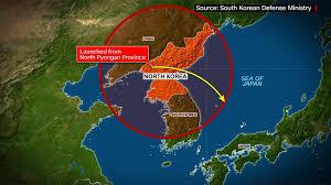 Sea Of Japan Map N Korea Tests Intermediate Range Missile Cnn Video