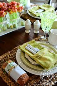 Spring Table Settings Shades Of Spring Green Tablescape Stonegable