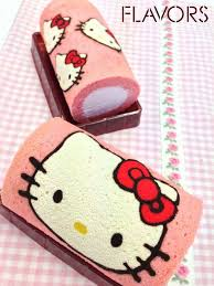 hello kitty swiss roll cake ideas