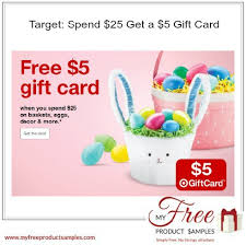 5 gift card target spend 25 get a 5 gift card myfreeproductsles