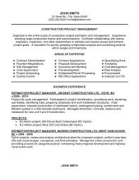 Example Objectives For Resume by Sample Construction Resume Template Professional Construction