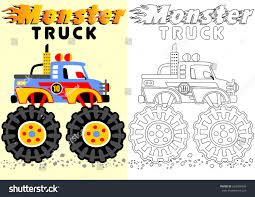 monster truck coloring books vector cartoon monster truck coloring book stock vector 628934996