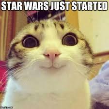 Star Wars Cat Meme - smiling cat meme imgflip