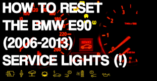 reset bmw 3 series e90 service lights youtube