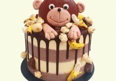 monkey birthday cake topper reha cake