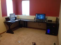 L Shaped Studio Desk Building An L Shaped Desk Diy L Shape Studio And Computer Desk The