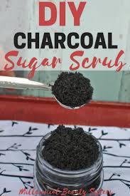 this diy charcoal sugar scrub is amazing for exfoliating