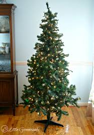 How To String Lights On Outdoor Tree Branches by Update A Fake Christmas Tree For Less Than 10 By 3 Little Greenwoods