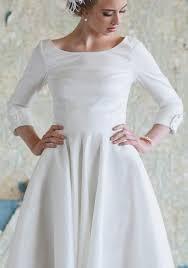 audrey tea length dress a line wedding dresses and 50s style