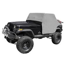 jeep gray wrangler rugged ridge 13310 09 cab cover gray 87 91 jeep wrangler yj