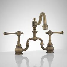 Bridge Faucets For Kitchen Kitchen Brass Kitchen Faucet Regarding Trendy Maylin Single Hole