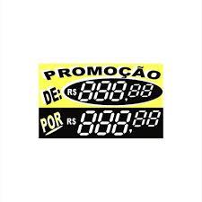 Common Etiqueta Preço Digital Promoção em PVC Reutilizável Amarela - Loja  &RF83