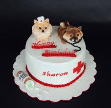 pomeranian nurse themed birthday cake cakecentral com