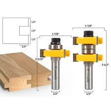 joinery tongue u0026 groove tongue u0026 groove router bit set 1 1