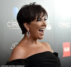 kris jenner haircut side view she s one glowing grandmother bronzed kris jenner can t hide her
