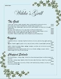 menu templates microsoft word microsoft word menu templates