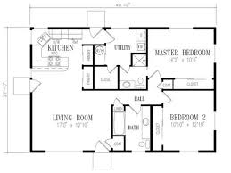 Two Bedroom Ranch House Plans 50s Ranch House Design House Plans