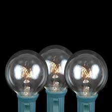 globe string lights brown wire 100 clear g40 globe round outdoor string light set on brown wire