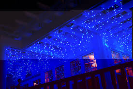 decorating extraordinary led icicle lights with blue color and