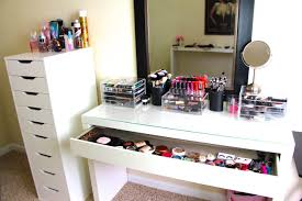 Desk Organizer Ikea by Makeup Storage Archaicawful Makeup Desk Withorage Image Ideas