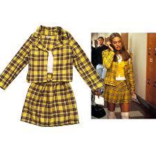 clueless costume sale cher s clueless yellow tartan plaid fancy