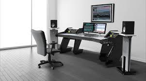 Studio Computer Desk by Pro Line All Black Studio Desk Workstation Furniture