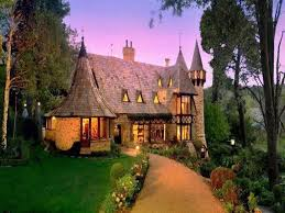 pretty houses houses pretty house evening light lit perfect path soft lights home