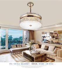 bedroom ceiling fans with lights crystal folding ceiling fan light telescopic modern minimalist
