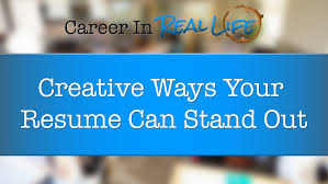 name your resume to stand out examples creative ways your resume can stand out youtube