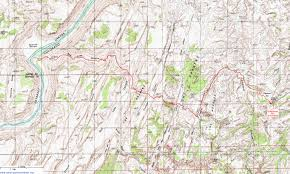Red River Gorge Map Topographic Map Of The Red Lake Canyon Trail Canyonlands National