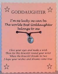 godmother gifts to baby goddaughter gift wish bracelet goddaughter bracelet friendship