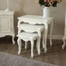 white nest of tables elise range nest of 3 tables melody maison