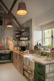 upcycled interiors in the open plan kitchen and living area my